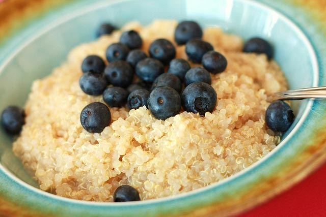 quinoa and blueberries