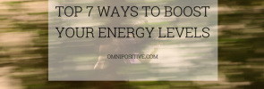 how to boost your energy level