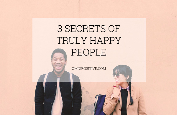 secret of happy people