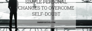 how to overcome self-soubt